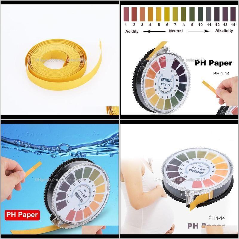5m 1-14 ph alkaline acid indicator meter test paper roll for water urine saliva soil litmus accurate testing measuring