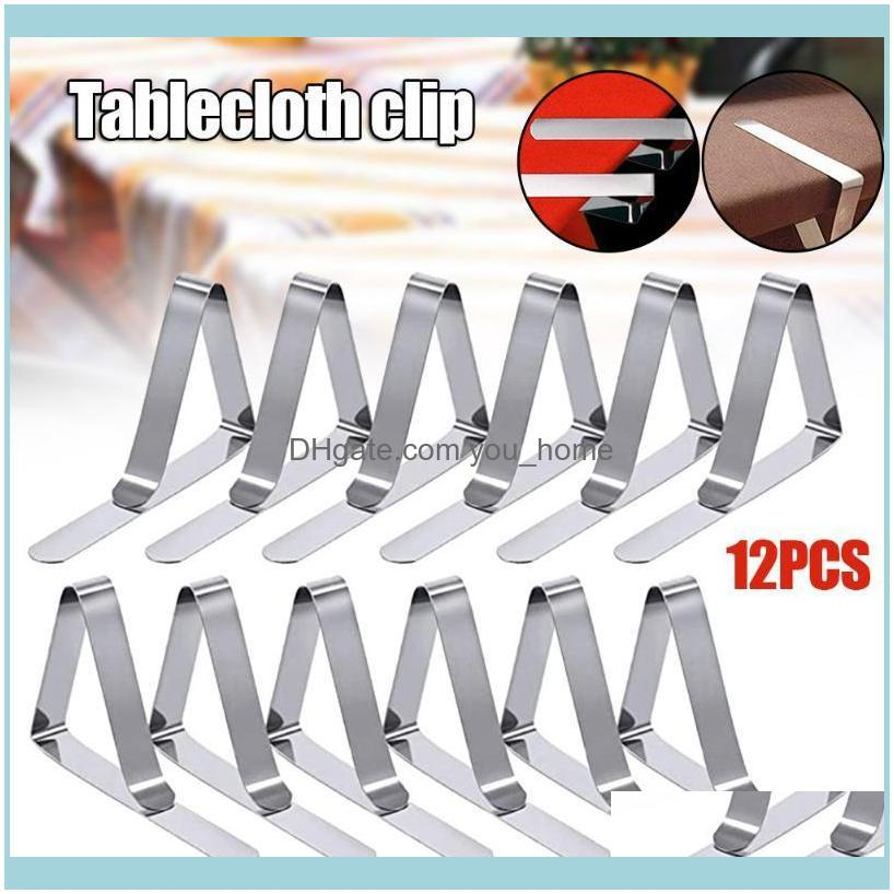 Tablecloth Clips 12Pcs Stainless Steel Picnic Table Clips Table Cloth Holders for Picnics Marquees Weddings Parties PI661