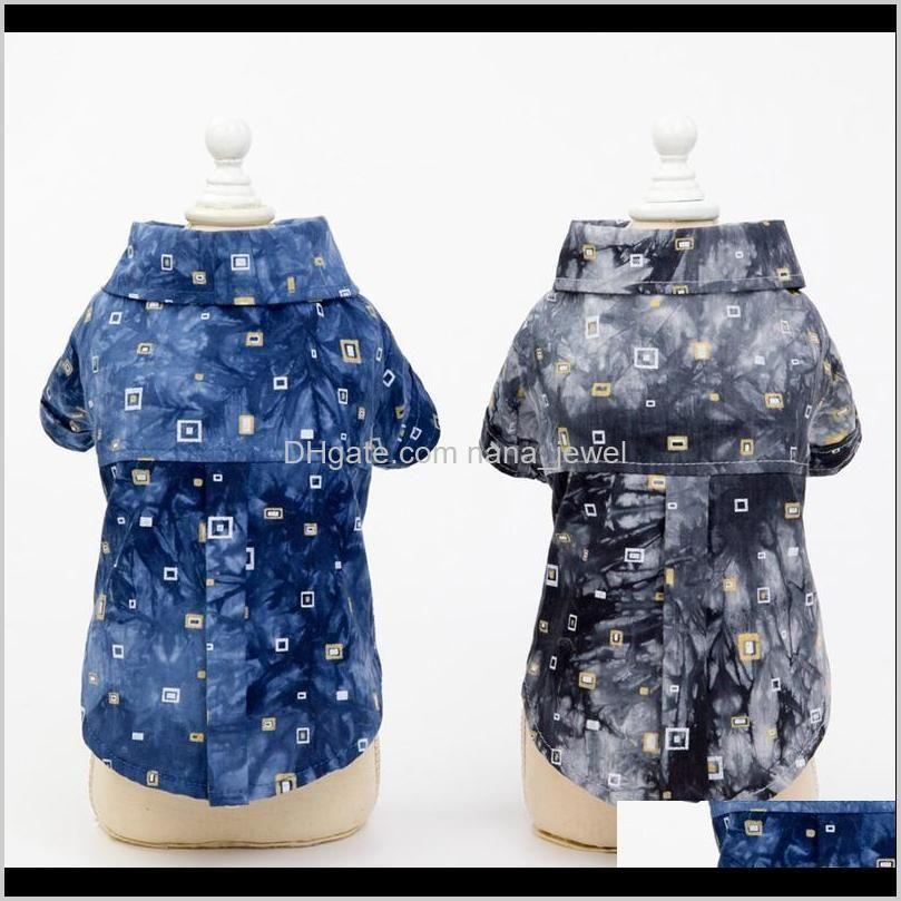 Dog Shirts Cotton Summer Beach Vest Short Sleeve Summer Beach Vest Short Sleeve Pet Clothes Dog T Shirt Print Tops1