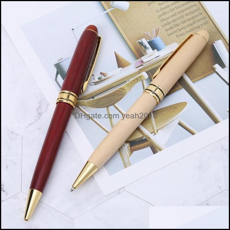 Handmade Twist Wood Ballpoint Pen School Student Stationary Office Writing Tool 103E Pens