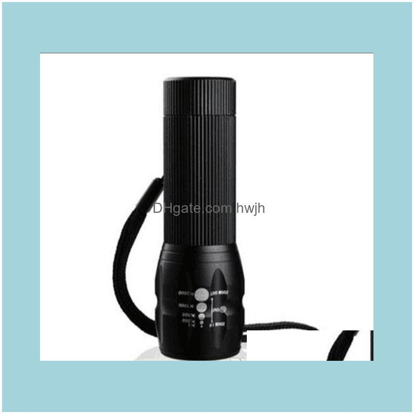 Strong Light Small electric torch LED Long Shot Rechargeable Super Bright Waterproof Mini Home Outdoor Zoom.