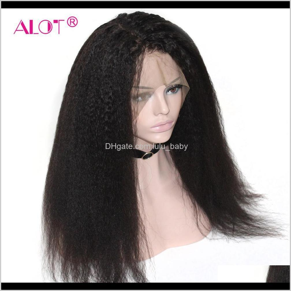 lace wig pre plucked with baby hair brazilian remy kinky straight human hair wigs glueless 13x1 lace part wigs 180% 10-28 inch