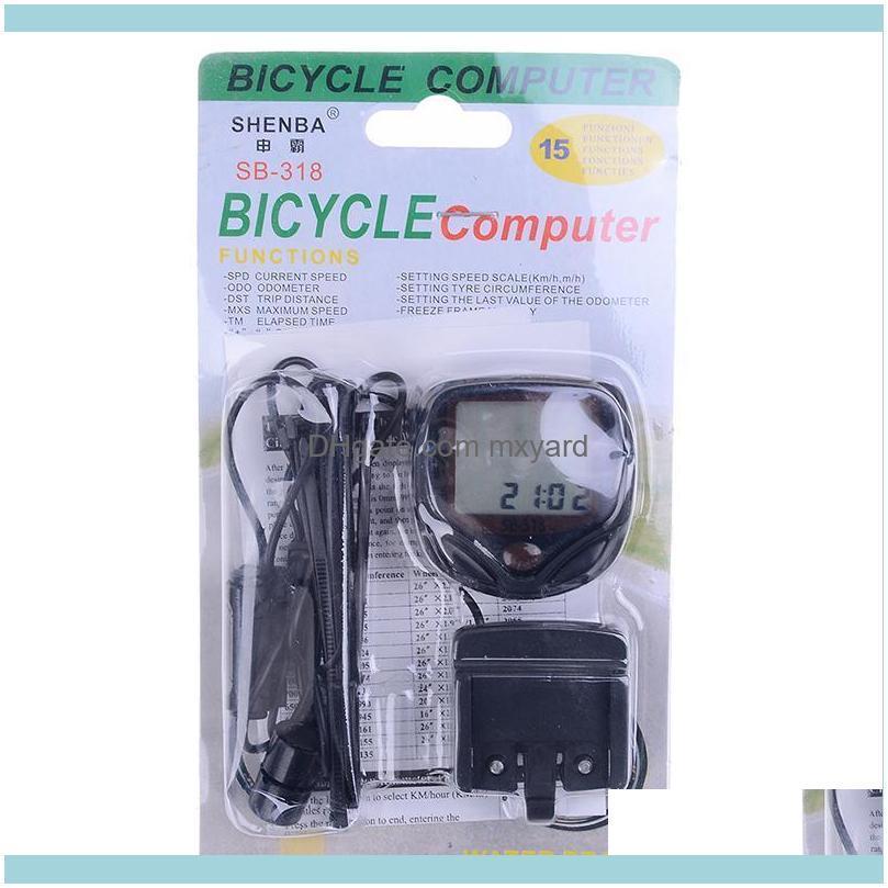 Bike Computers Arrival 1 Set Bicycle Cycling Odometer Speed Speedometer Waterproof Meter Mountain