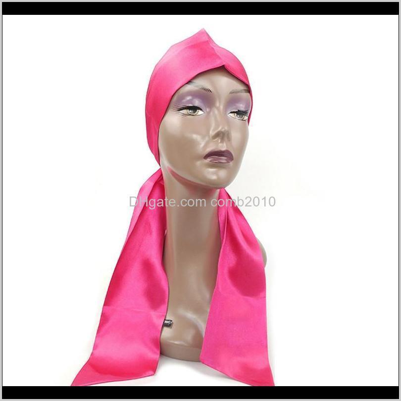 hair tie band virgin hair extensions wrapping hair bands satin silk frontal headban custom edge scraf wrap headband belt 10pcs