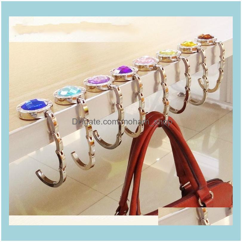 2020 NEW Portable for Hanging Crystal Alloy Magic Hooks for Purse Bag Hanger Portable Handbag Folding Hanger Holder Hook