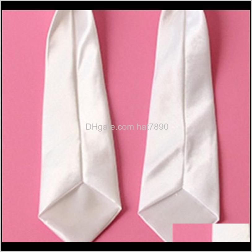 sublimation blank white neck ties kids adult tie heart transfer printing blank diy custom consumables material wholesale 184 R2