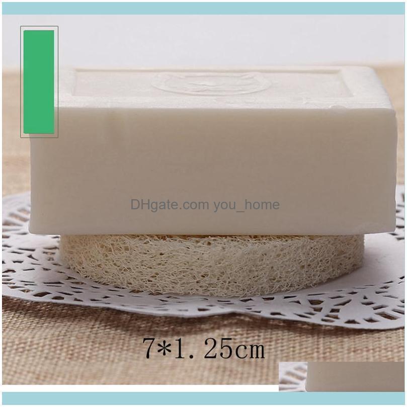 Natural Loofah Sponge Loofah Soap Dish 4/6/7cm Luffa Soap Holder Soap Pad Bathroom Accessories Cleaning Tool LLA300