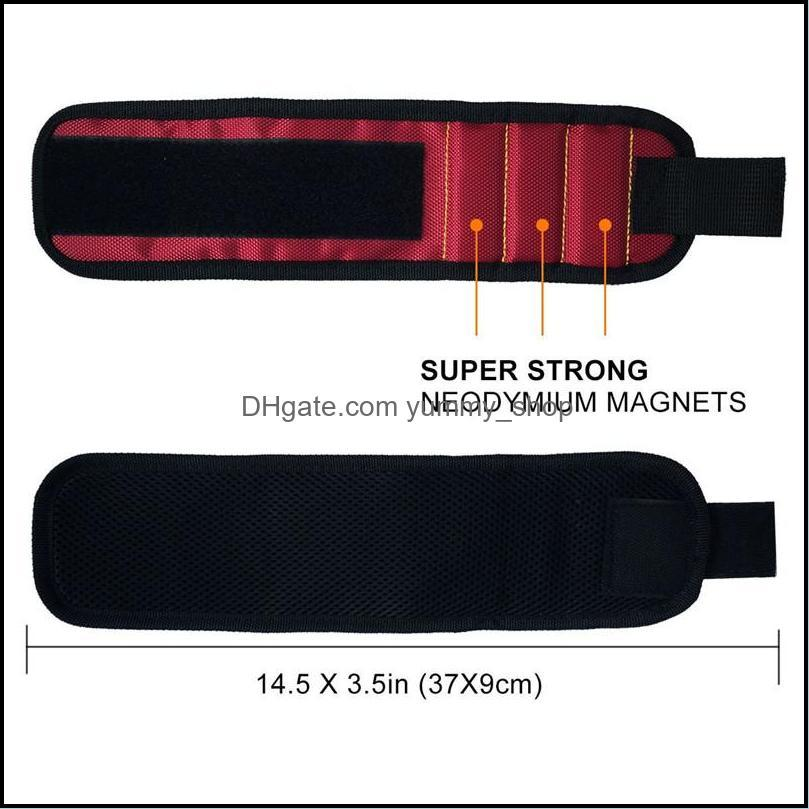 Magnetic Wristband Pocket Tool Belt Pouch Bag Screws Holder Holding Tools Magnetic bracelets Practical strong Chuck wrist Toolkit