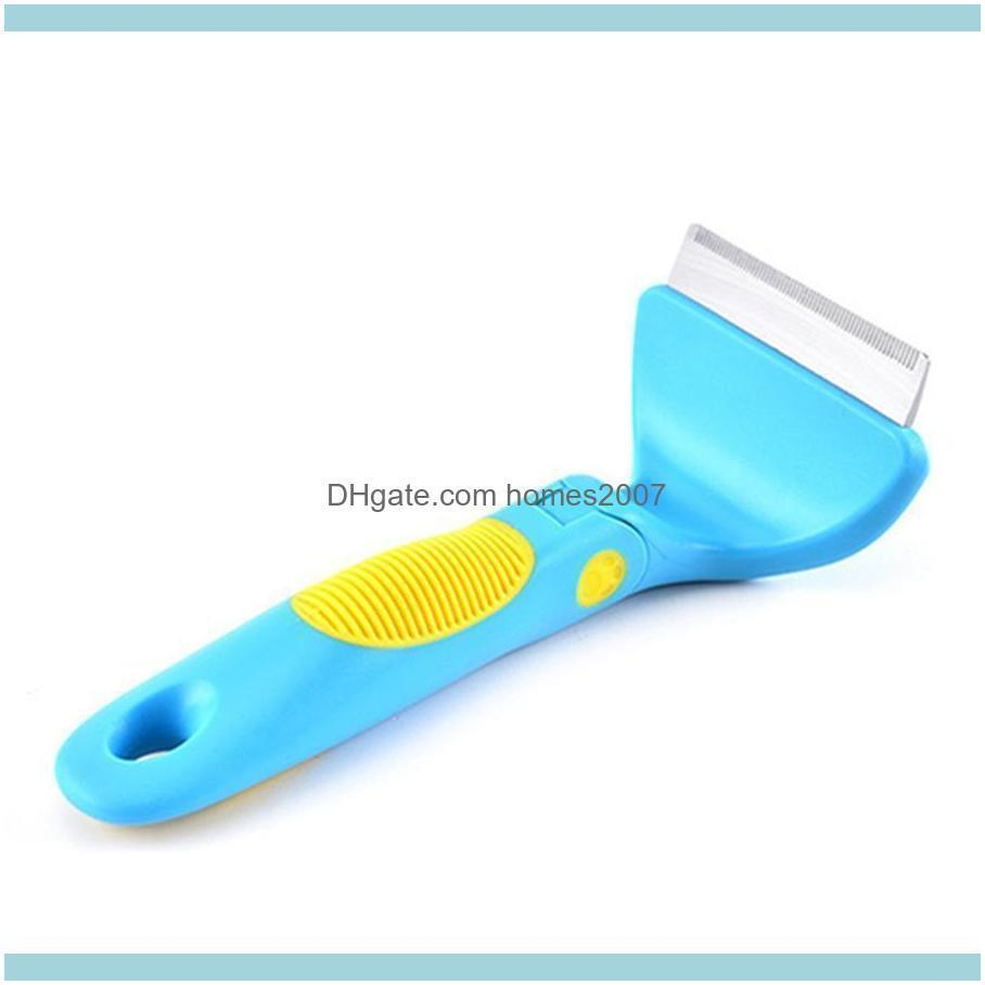 Adjustable Pet Dog Grooming Comb Stainless Steel Practical Open Knot Comb Multifunctional Plastic Anti-slip Handle Pet Comb BH0629 TQQ