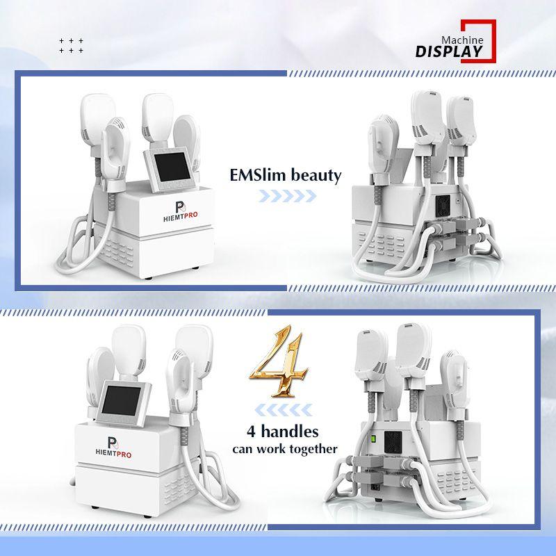 Professional Ems Fitness slimming Hi-Emt 7 Telsa Muscle Stimulator 4 Handles Oem Hiemt Burn Fat Beauty Machine