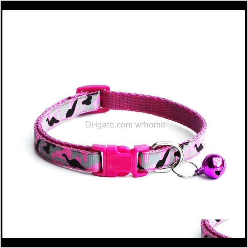 2pcs adjustable camo puppy kitten dog cat pet bow tie with bell necktie cute collar