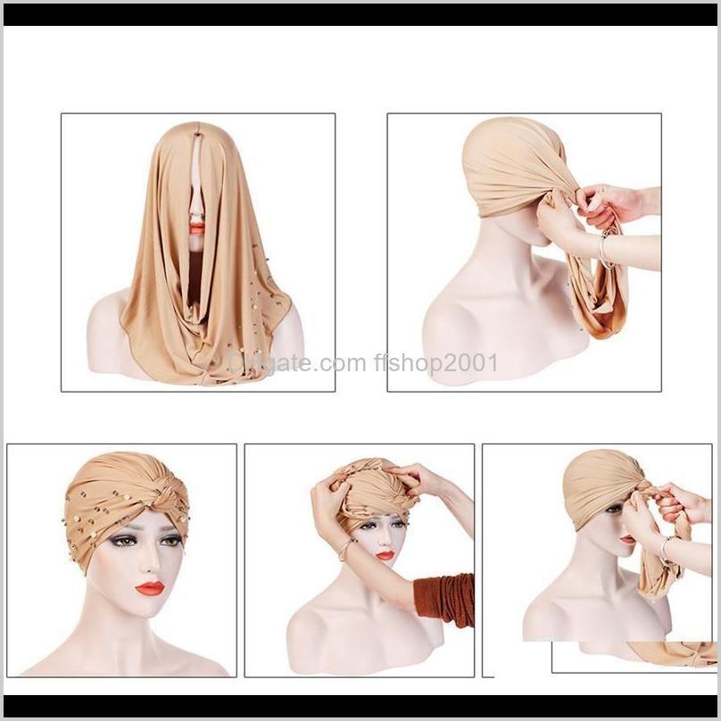 summer thin lace turban solid cotton inner caps soft glitter muslim women bonnet wrap head underscarf cap