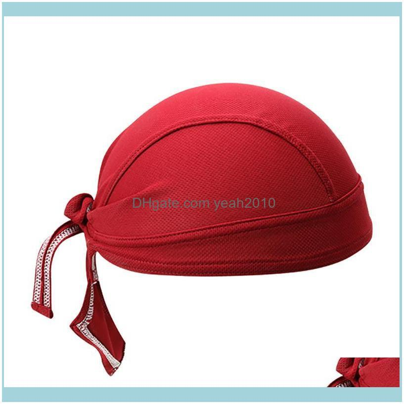 Riding Outdoor Sports Cap Turban Headband For Men Solid Color Headscarf Autumn Breathable Sunscreen Pirate Hat Head Sweatband