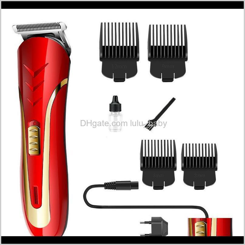 kemei red hair trimmer adult child rechargeable electric razor men beard shaver electrical hair clipper with eu plug km-1409