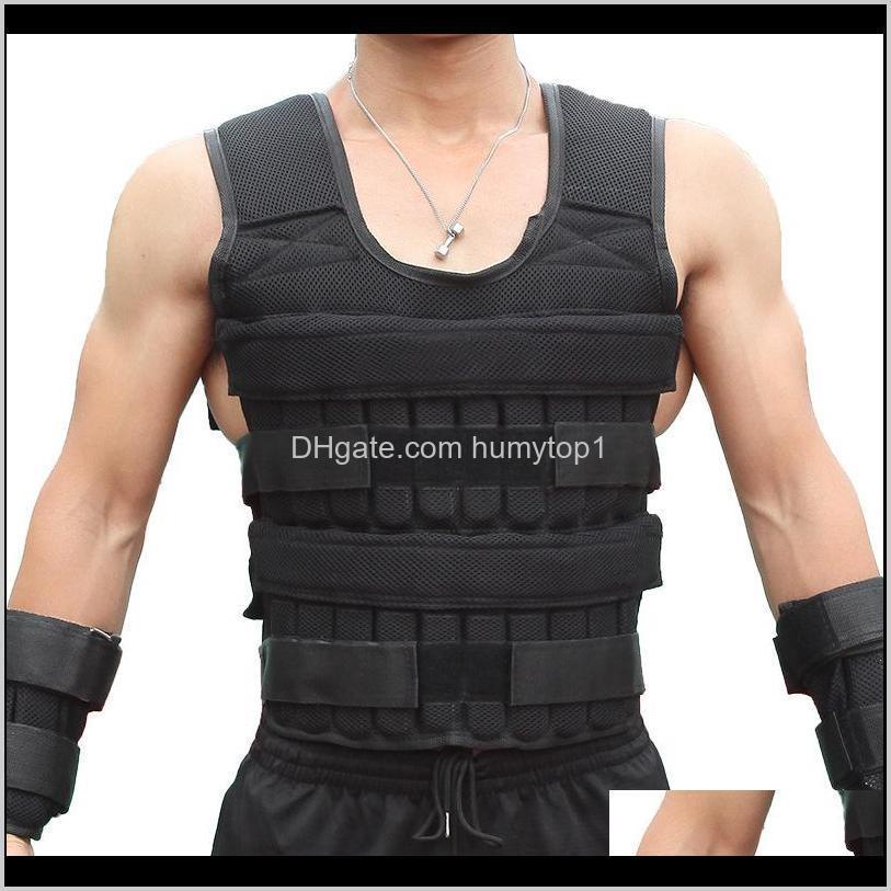 30kg exercise loading weight vest boxing running sling weight training workout fitness adjustable waistcoat jacket sand clothing 56 w2