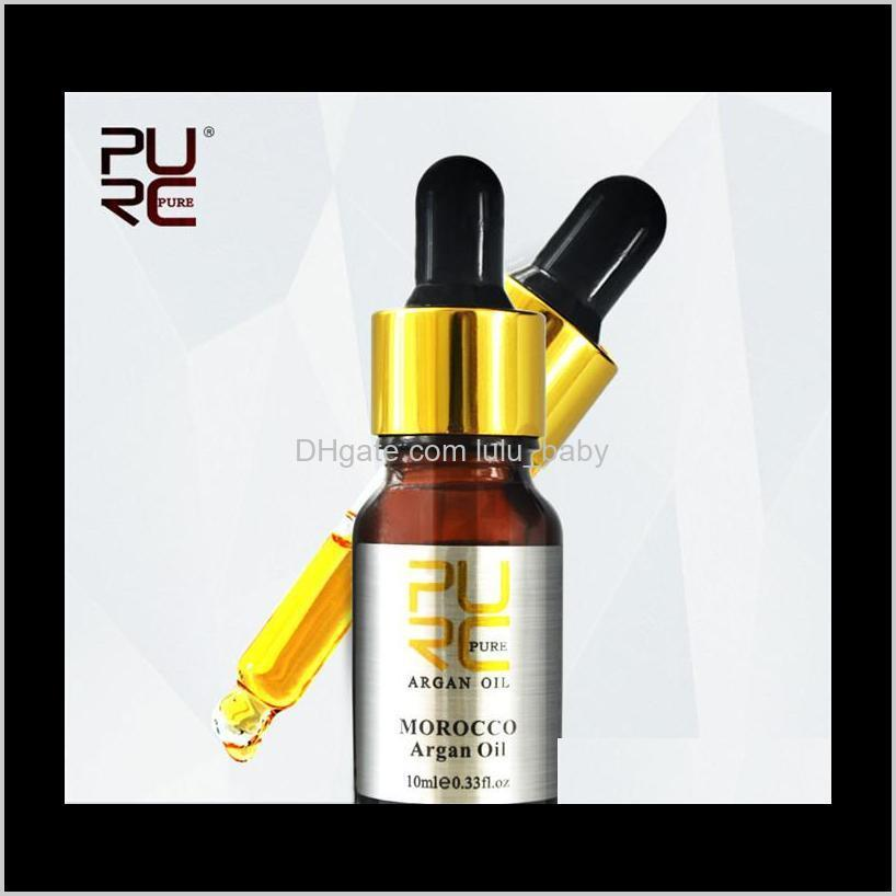purc natural tea tree and moroccan argan hair essential oil for dry and damaged hair hair care oil nourishing scalp