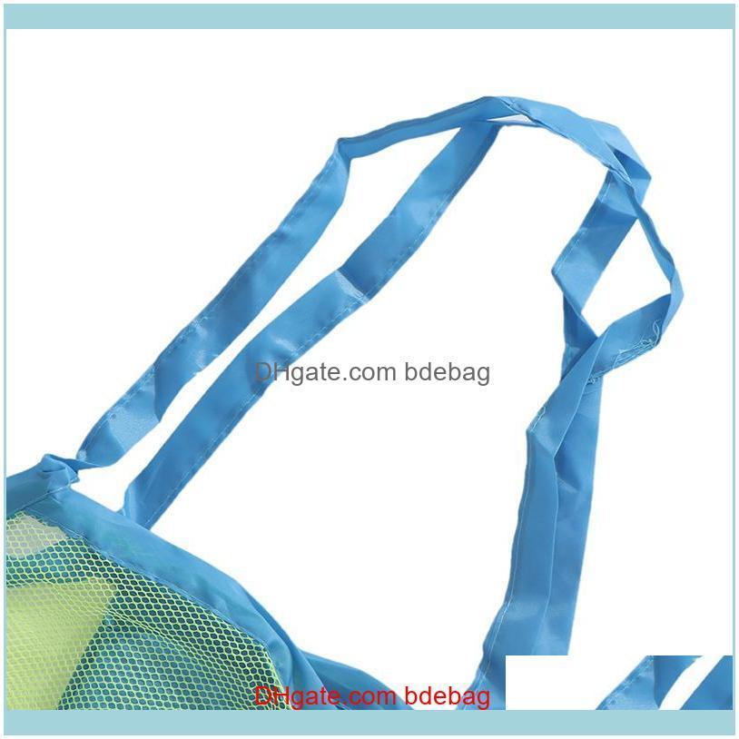 Outdoor Swimming Beach Bag Foldable Mesh Swimming Waterproof Bag For Kids Beach Toy Mesh Tote Bags Sport Bags