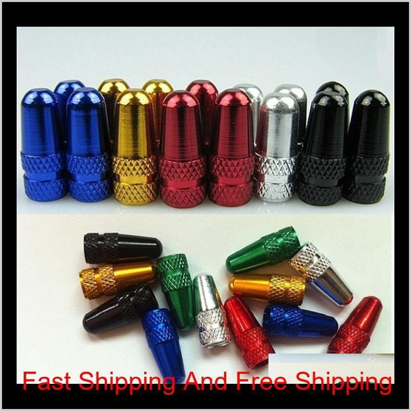 new high quality bike bicycle aluminium alloy presta valve cap french bicycle tire valve cap for bicycle tire puncture repair 0648
