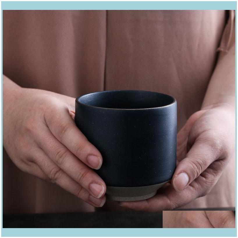 European Style Ceramic Coffee Cup Porcelain Green Glaze Office Teacup Creative Simple Breakfast Water Mug Drinkware Cups & Saucers