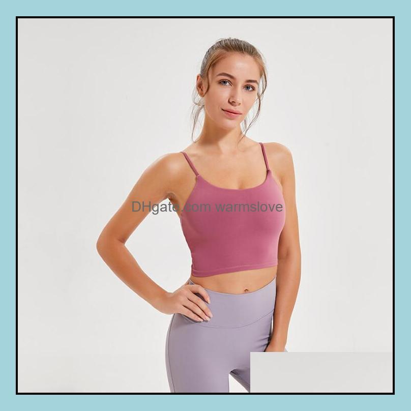 Gym Clothing Fitness Energy Sports Bras Women Shockproof Push-Ups Yoga Vest Tops Workout Running Thin Strap Underwear