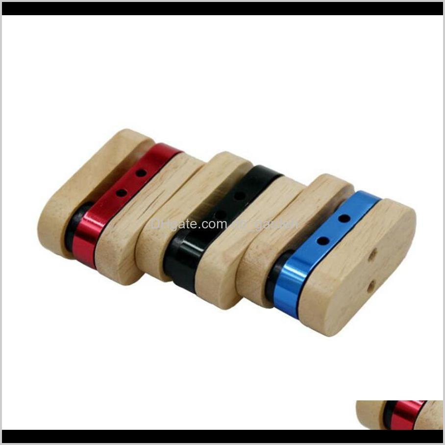 folding wooden pipe detachable aluminum alloy cigarette holder hand portable foldable smoking pipes smoking accessories ooa7298-4