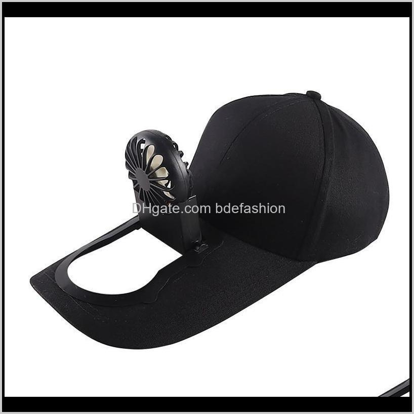 Summer Fan Cooling Baseball Cap Hat Usb Charging Breathable Shade Sunscreen Fishing Sport Outdoor Golf Wide Brim Hats