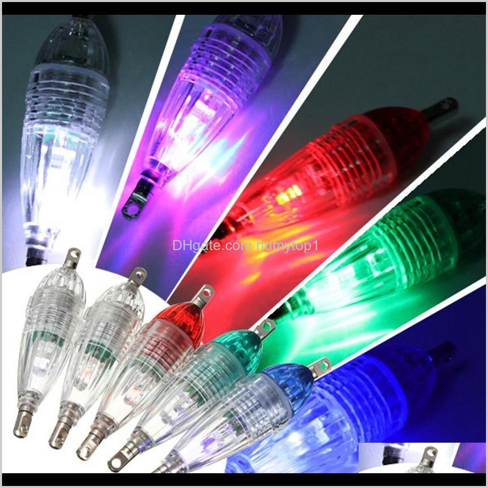 Mini LED Deep Drop Underwater Fishing Squid Fish Lure Light Squid Strobe Bait Lure Flashing Lamp OOA3578