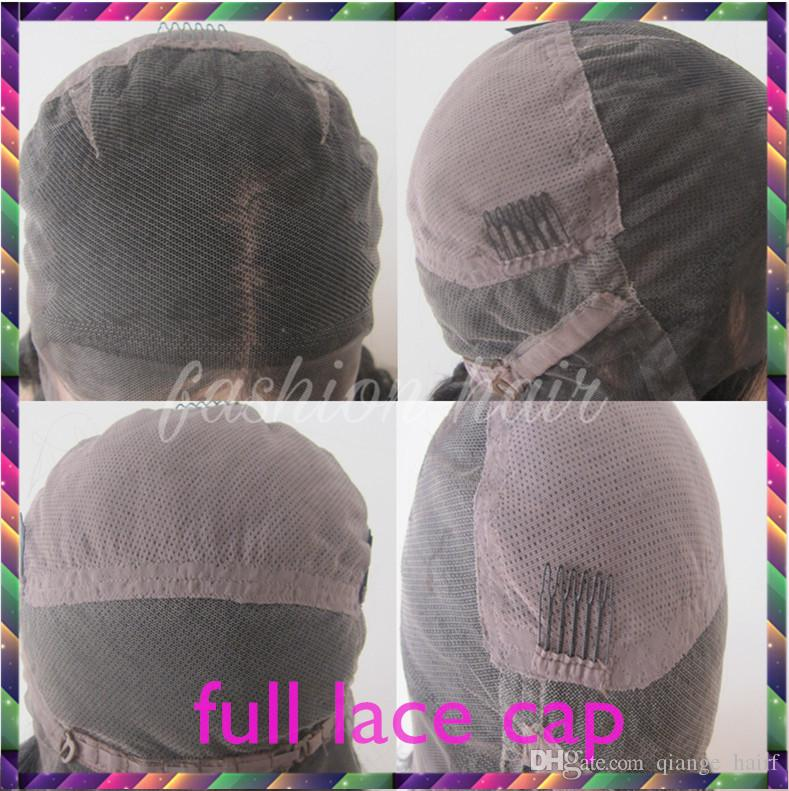 Pre Plucked Brazilian Glueless Full Lace Wigs Human Hair With Baby Hair Non Remy Natural Black Color Wavy Wig For Women