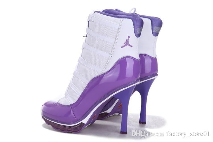 low priced 4b90c ed1ec Air Jordan High Heels Womens BASKETBALL SHOE All White