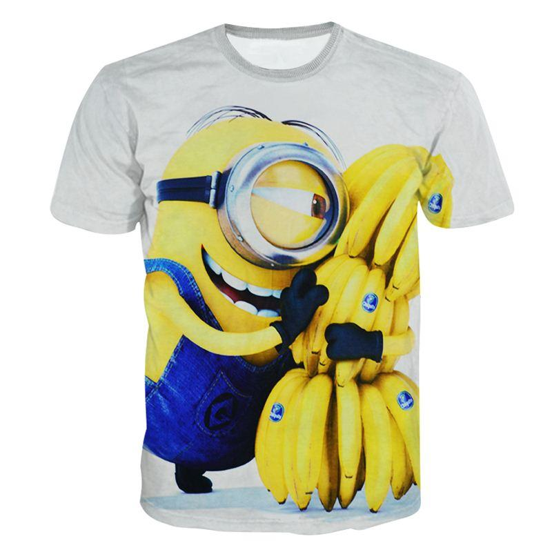 Alisister Cartoon Despicable Me Minion T Shirt Printed Funny Men Women 3d Casual Minions Shirts Harajuku Tshirt Tops Tee Best