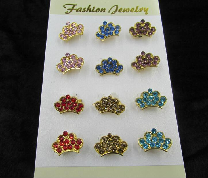 Cheap Costume Jewelry Rhinestone Crown Brooch Wholesale King Crystal Brooch Pins for Women