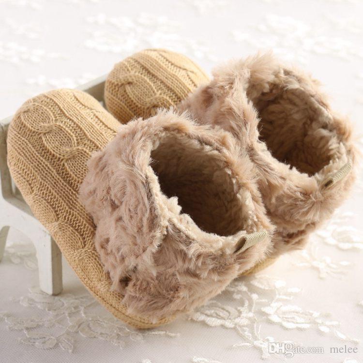 Nueva llegada Chrsitams Botas de bebé 18 pares / lote Zapatos de niños Botas Rosa / blanco bebé infantil bebé niñas botas Zapatos australianos botas 0-2 años