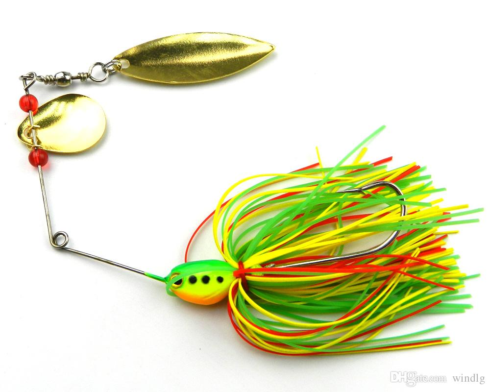 Hengjia Wholesale new Double Piece Spinners fishing lures 14.3G 4.7CM 1.7CM SB001