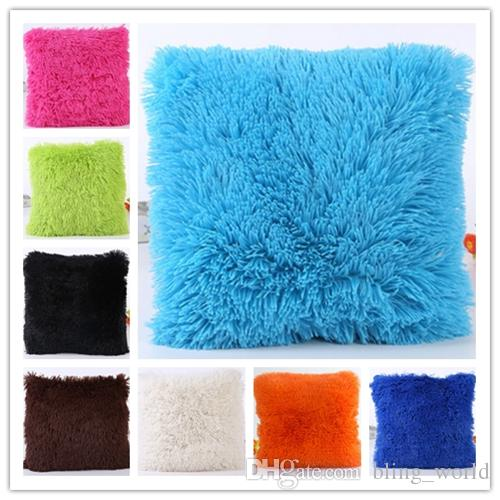 40*40cm 8 Colors Wool Mats Cushion Plush Pillows Woollen Cushions For Sofa Throw Pillow Car Home Decor Fur Pillow For Chair Toys & Hobbies