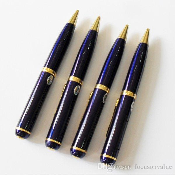 8GB pen camera HD Ball Point Pen Mini camcorder pinhole camera Audio Video Recorder Pen DVR in retail box