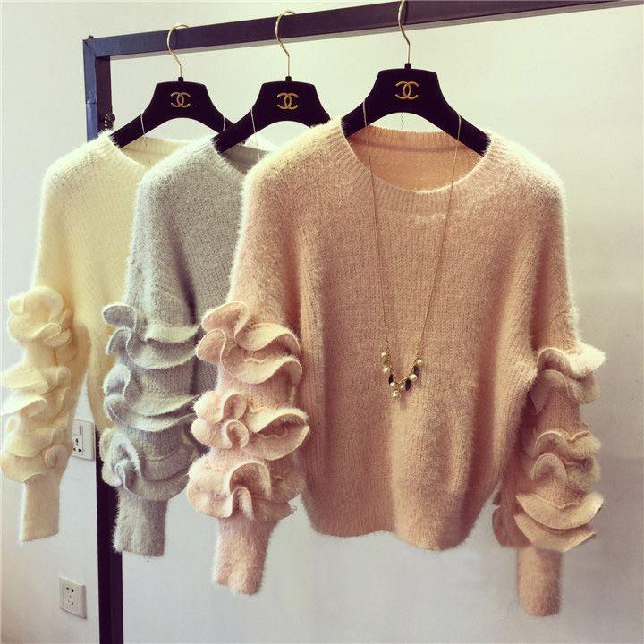 2018 New Arrival Modern Style Women Sweaters 2016 Fashion Ruffle ...