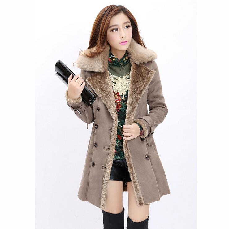 3e85167d7cd 2019 Women Winter Wool Jacket Coats 2015 New Fashion Women Faux Fur Winter  Coats Long Lapel Neck Plus Size Thick Fur Coats For Women From Cnaonist