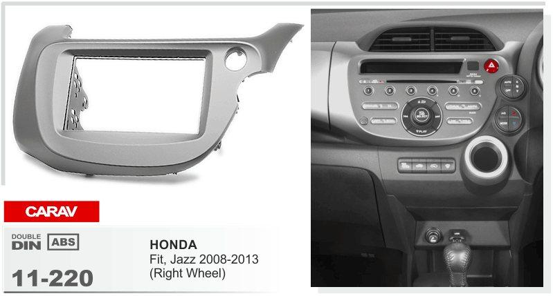 Carav 11 220 Top Quality Radio Fascia For Honda Fit, Jazz 2008 2013 Right  Wheel Stereo Fascia Dash Cd Trim Installation Kit Luxury Car Interior  Accessories ...