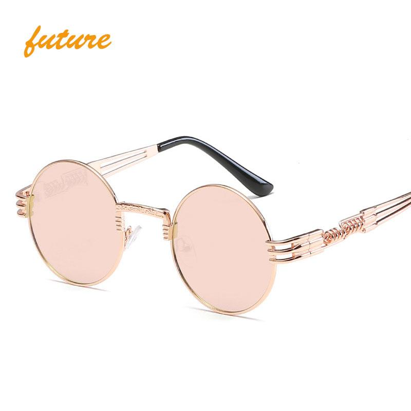 0eaf2210dd16 Gothic Steampunk Sunglasses Women Men Metal Wrap Eyeglasses Round Shades  Vintage Brand Designer Male Sun Glasses Mirror Oculos Sunglasses Online  Sunglasses ...