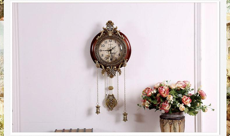 Retro Style Vintage Wood Wall Clock With Pendulum 0201008 Small