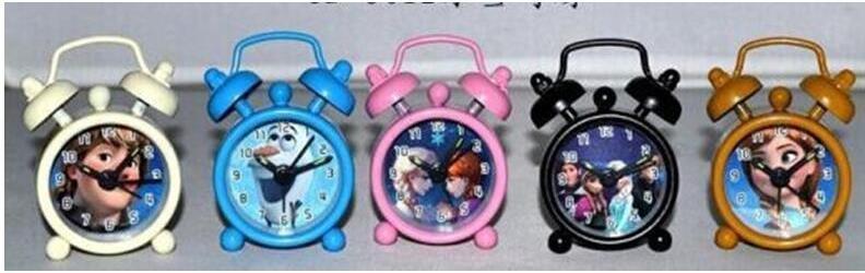 DHL/EMS elsa Clock Cartoon metal alarm clock Mini alarm clock small alarm clock Snow treasure BB alarm