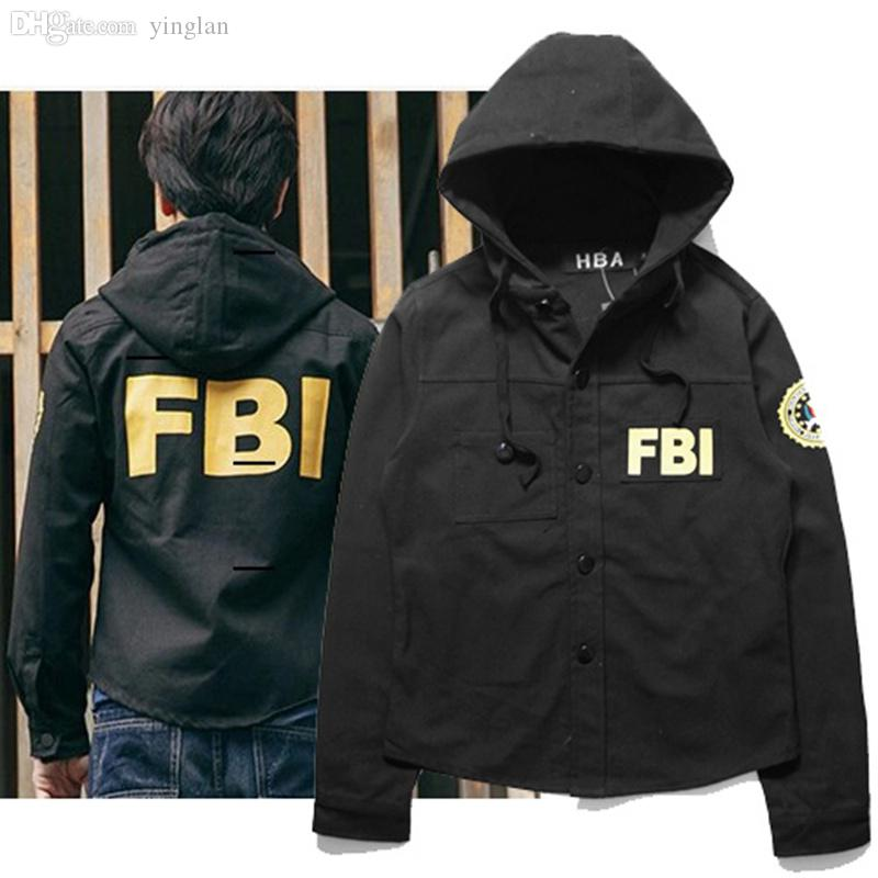 2051a0e37 Fall-FBI Jacket Bomber Pilot HBA Hood By Air Windbreaker Abrigos y  Chaquetas Camouflage Hunting Clothes Windbreaker FBI Jackets