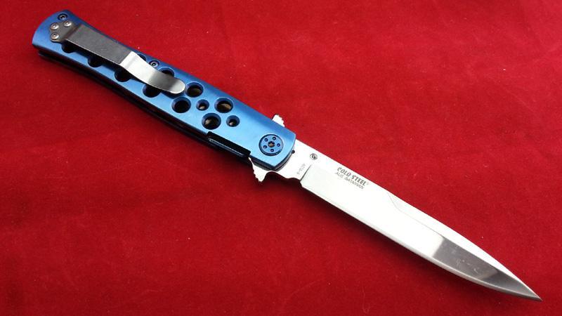 De alta calidad de acero frío 26S París azul Material de la hoja AUS-8 supervivencia exterior acampar cuchillo de caza cuchillo plegable D2 1 unids envío gratis
