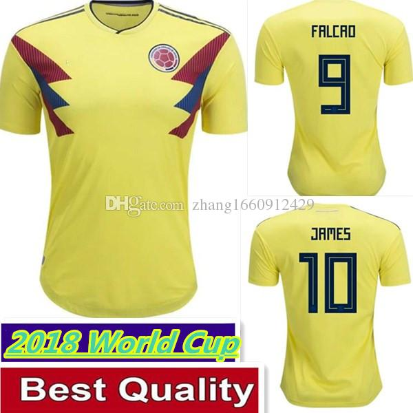 NEW National Team Colombia 17 18 Home Soccer Jersey JAMES FALCAO ... e940a4751
