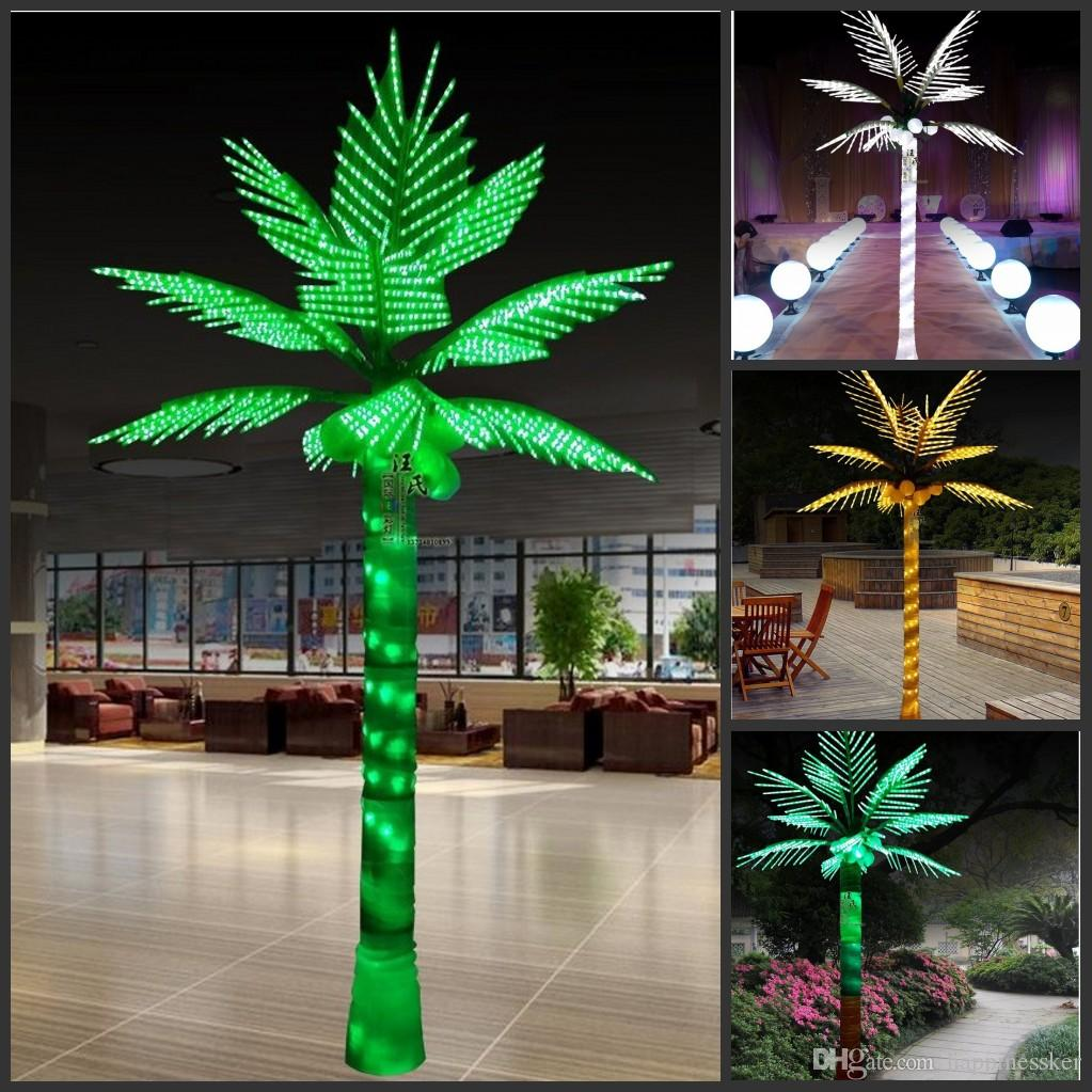 Palm Tree Lights Christmas.Artificial Coconut Lamp 2 Meters High 1128pcs Led Home Garden Simulation Tree Lighting Outdoor Decoration Christmas Tree Lighting Decoration