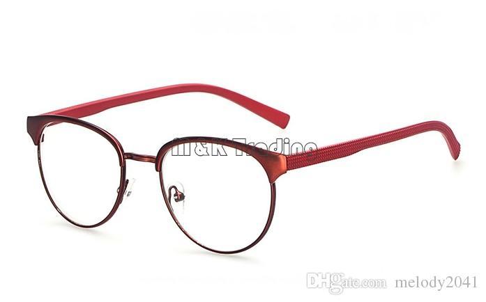 Glasses Shop 2015 Vintage Metal Optical Frame Red Pretty Eyeglasses ...