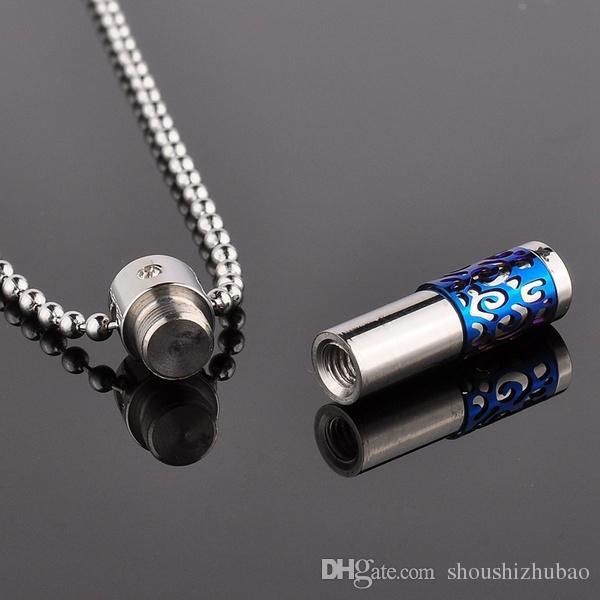 « Only Love » 316L Bijoux Crémation en acier inoxydable pendentif en cristal Collier Keepsake
