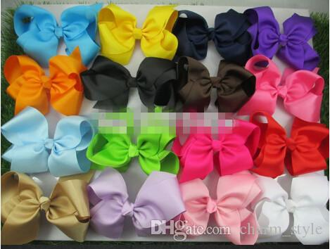 30%off 6 Inches Big Grosgrain Ribbon Hairbows,Baby Girls' Hair Accessories With Clip,Boutique Hair Bows Hairpins--