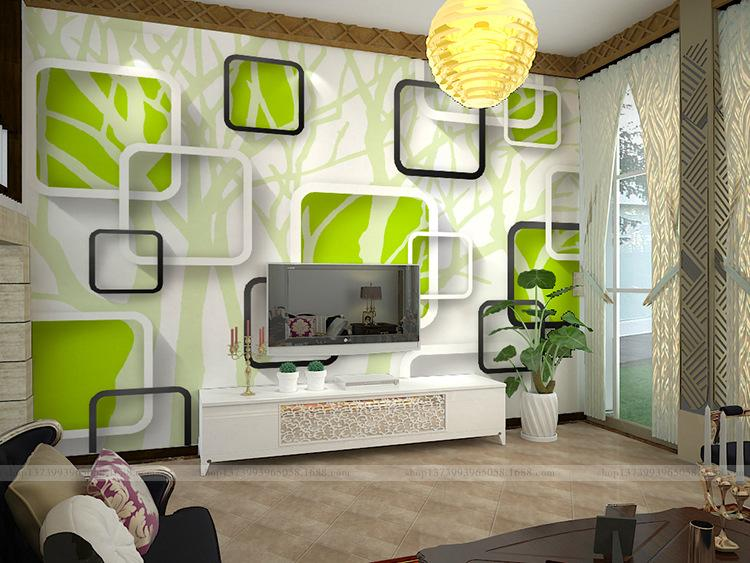3D Wall Painting 3d brief tv wall painting seamless large mural sofa wall painting