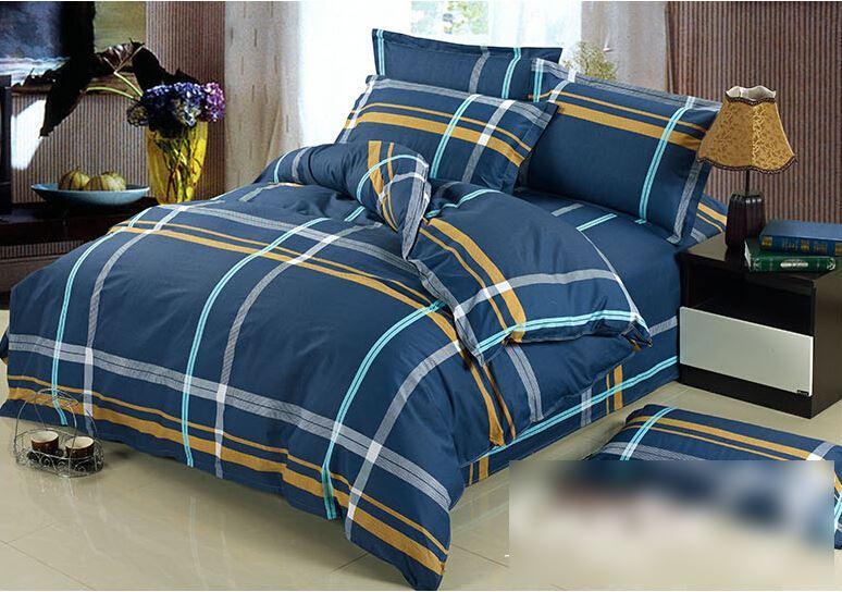 best quality 100 cotton quilt doona duvet cover set boys navy blue stripe yellow grey dark bed linen at cheap price online sheets u0026 sets dhgatecom